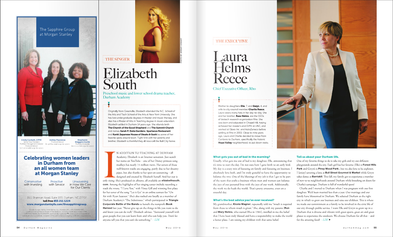 Elizabeth South Durham Magazine The Women's Issue